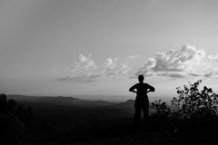 Konglak Pahar, Sajek (Extinted DiPu) Tags: beautiful bangladesh konglak mountain 24mm highest peak monochrome single people lady dark sunset lifestyleofbangladesghipeople deby candid outdoor sky