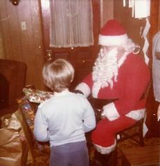 John and Santa at Christmas 1977 (The Vogel Project) Tags: john vogel christmas santa 1977