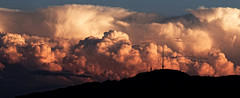 Thunderstorm Sunset (eichlera) Tags: uetliberg mountain swiss alps zurich switzerland clouds sky cumulonimbus sunset thunderstorm