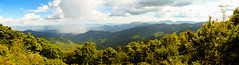 Mountain Rain Panorama (marshallross) Tags: mountain mountains landscape sky panorama nature rain clouds cloud beautiful view outdoor weather trees nikon photography nikonphotography