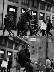 [La Mia Citt][Pedala] sorridendo al telefono (Urca) Tags: milano italia 2016 bicicletta pedalare ciclista ritrattostradale portrait dittico bike bicycle nikondigitale mir biancoenero blackandwhite bn bw nn 89143 sorridendoaltelefono