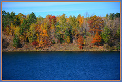 {Cuyuna Country Lakescape - V.} (Wolverine09J ~ 1 Million + Views) Tags: cuyunacountryoct16 autumnfoliage lakescape scenic portsmouthminelake minnesota highlights staterecreationarea vividcoloration nature rainbowofnaturelevel1red rainbowofnaturelevel2orange