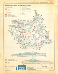 Geology, geophysics and hydrogeology of the Monte Amiata geothermal fields. Plate 7: Hydrogeological map of the Monte Amiata volcano (Aerofototeca Nazionale - ICCD) Tags: toscana italy map cartography geography geology geografia cartografia cartageografica tuscany italia geologia idrogeologica