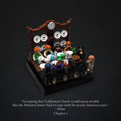 The Order of the Phoenix (Vaionaut) Tags: harrypotter orderofthephoenix harry potter nymphadora tonks kingsley shacklebolt sirius black remus lupin fred george arthur weasley magic plates lego