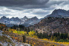 Fall Colors - Autumn in the Sierra (www.karltonhuberphotography.com) Tags: 2016 autumn buildingstorm california drama easternsierra fallcolors forest horizontalimage inspiring invigorating karltonhuber landscape landscapephotography light mountainpeaks nature outdoors peaceful rugged sierranevadamountains snowfields weather wildplaces wilderness