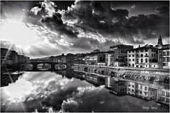 Bw (Giorgio Finessi) Tags: canon sky arno firenze florence bw