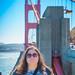 Heather at the Golden Gate Bridge