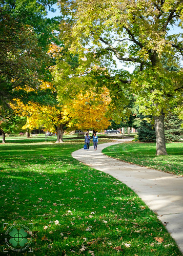 It felt like I hadn't been in Decorah since 1922.  What a beautiful tapestry of colors within the Luther College campus.  Decorah, Winneshiek County, Iowa, USA.  #stateology #visitdecorah #decorah #iowa #luthercollege @luthercollege  © Terry Mac
