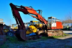 poclain (riccardo nassisi) Tags: truck camion abbandonato abandoned rust rusty relitto rottame ruggine ruins scrap scrapyard epave cava piacenza san nicol