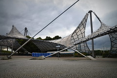 Geometry in Architecture (pringle-guy) Tags: nikon germany deautschland munich munchen soccer football bayernmunich olympic olympicpark olympicstadium