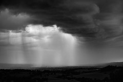 Beat the retreat (Fly bye!) Tags: storm rain cloud weather cheshire bickertonhills