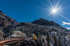 Scenes from Route 550, CO (tyil.pics) Tags: colorado fallcolors snow sunstar mountain tree nikond810