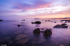 Atardecer en el mediterraneo (jopas2800) Tags: sunset rocks sea mediterrneo purple time lapse nikon tokina d610