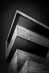 """""""Railing..."""" (Dirk van der Veen) Tags: rotterdam lantarenvenster bw architecture wilhelminapier"""