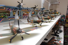 spitfires (s4turn17) Tags: corgi lego transformers snoopy planes smurfs matchbox diecasts toyroom