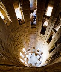 inside sagrada spire (n.a.) Tags: barcelona familia architecture spain spire gaudi round tall sagrada