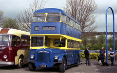 MBR25 Metrocentre Bus Rally - South Shields Daimler (HairyHippy) Tags: pentax mesuper 35mm busrally preservedbuses leyland aec dennis daimler atkinson routemaster metrocentre gateshead tyneandwear england uk unitedkingdom film traditional analogue analog silver halide bromide chemical fujifilm fujicolor superia xtra asa400 fujihunt c41developer