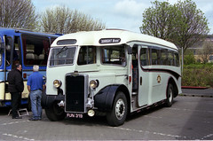 MBR30 Metrocentre Bus Rally - What Fun! (HairyHippy) Tags: uk england film analog 35mm silver pentax unitedkingdom superia traditional gateshead fujifilm routemaster analogue dennis daimler chemical leyland asa400 bromide mesuper xtra tyneandwear metrocentre fujicolor atkinson aec busrally halide preservedbuses c41developer fujihunt