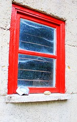 Bright Red Window (Judy Gayle) Tags: red window stone ashtray pfcolour