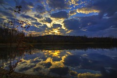 Through the clouds (sherbypictures) Tags: canada reflection water quebec vincent sherbrooke fortin