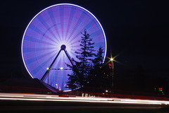 Leader Dog Carnival Ferris Wheel (Tom Hughes Photo) Tags: wheel night canon eos long exposure michigan ferris led hills rochester 10d 2485mm