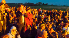 Some of the thousands of people watching the burning of the Wicker Man at the 2013 Butser Farm Beltain Festival (Anguskirk) Tags: uk england may hampshire spectators beltane beltain celticfestival wickerman chalton butserhill 2013 butserancientfarm ancientceremony
