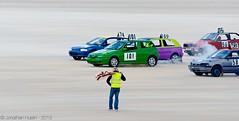 Away We Go (Jonathan Huelin) Tags: cars beach sand nikon racing jersey alfaromeo channelislands motorsport d5100