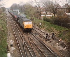 56016 Skelton Junction coal hoppers 14th Februaryl 1983 (Skelton80s) Tags: junction 1983 14th coal hoppers skelton 56016 februaryl