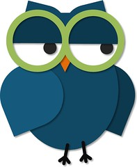 Owl with Glasses (Enokson) Tags: blue signs cute green bird eye birds glasses eyes graphics graphic image library libraries decoration images signage owl bulletinboard eyeglasses owls bulletinboards eyeglass printables printable vblibrary enokson edmontonlibrarydecoration