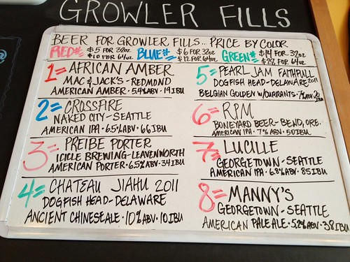 Beer for growler fills, 5/17 Friday 3:49PM