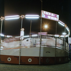 tilta (Turbobuddha) Tags: carnival film amusement ride cross hasselblad velvia velvia100 processed carny hassy