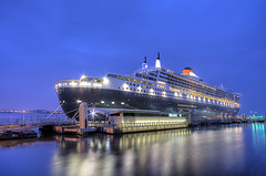 Queen Mary 2 In Liverpool (Jeffpmcdonald) Tags: uk liverpool cruiseship queenmary2 cunard cruiselinerterminal nikond7000 jeffpmcdonald may2013