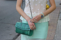 vintage snakeskin bag arm party (Natalie Ast) Tags: toronto west green car fashion vintage shopping this graffiti frozen is blog downtown paradise purple district mint style skirt blogger canadian queen purse clutch accessories yogurt zara snakeskin froyo yogurtys
