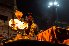 Ganga Aarti | Dashashwamedh Ghat,Varanasi,India. (vjisin) Tags: travel india man heritage water 35mm river boat nikon asia outdoor smoke varanasi ritual serene lamps spiritual devotional hindu hinduism ganga ganges ghats aarti ghat kasi travelphotography gangaaarti holymen indianman incredibleindia dashashwamedh dailyritual motherganga maaganga