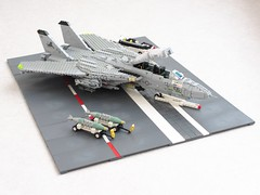 Blacklions Tomcat diorama (Mad physicist) Tags: lego tomcat f14d usnavy grumman jet fighter aircraft
