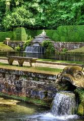 Parc du Chateau de Courances (Philippe Vieux-Jeanton) Tags: chateaudecourances park parc fountain bench water summer hdr sel50f18 sonya6000