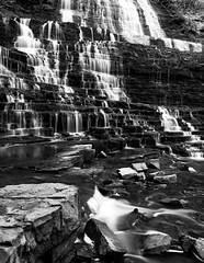 Step Through (Jaggy89) Tags: steps albionfalls waterfall falls water flow blackandwhite bw rocks rocky cascade longexposure smooth landscape nature