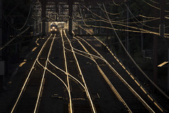 Commuter Speedway (ericwill) Tags: catenary commuter dlw eastorange electric engine glint lackawanna nj njtransit newjersey newark railroad track train