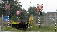 HO 825_20160819-014_machinist achterop besturend Noordersluisweg Velsen Noord op 19-08-2016 (PieterBeverwijk) Tags: hoogovens ho825 staaltrein staalrollen coils fluisterloc