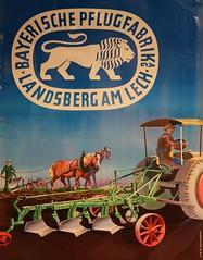 Bayerische Pflugfabrik Landsberg am Lech (Norbert Kaiser) Tags: plakat werbung landwirtschaft pflug
