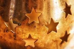 Stars (Bmartel2k) Tags: macromondays stars light lumire toile macro mtal lampion texture dor