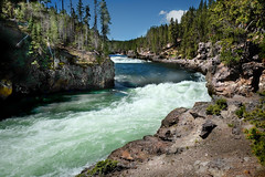 White Water (nfin10) Tags: fujifilm xt1 yellowstone national park white water lower falls river rapids