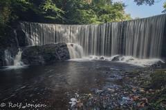Calder waterfall (rjonsen) Tags: river calder lochwinnoch long exposure water glen motion blur sunny scotland