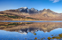 Blaven reflections - pano (Joey Hodgson *lost everything, now re-uploading*) Tags: loch slappin lochslappin reflections water mountains snow blaven blabheinn panoramic skye isleofskye sco scotland landscapephotography mirror uk joeyhodgsonphotography landscape photography sky