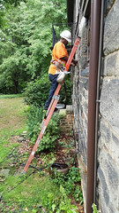 AT&T repairs internet at my house - Cleveland Heights microburst - 2016-08-13 (Tim Evanson) Tags: clevelandheightsohio clevelandheightsmicroburst weather trees myhouse