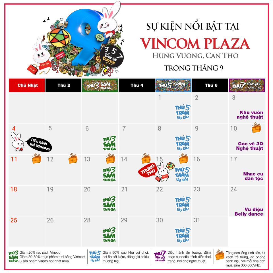Tháng 9 này, có gì chờ bạn ở Vincom Plaza Hùng Vương