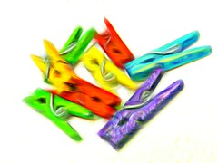clothes pegs (Jackal1) Tags: clothespegs colours arty art melting blur yellow green orange purple objects