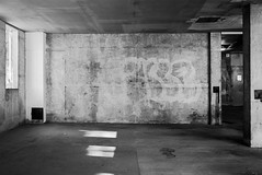 belong. (jonathancastellino) Tags: toronto architecture abstract graffiti removal machine lot shadow light leica fade