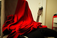 chair (julietkitz) Tags: blanket chair pillow red warm warmtones