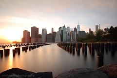 New York City Skyline before sunset (JetImagesOnline) Tags: new york city brooklyn lower manhattan long exposure dumbo sunset